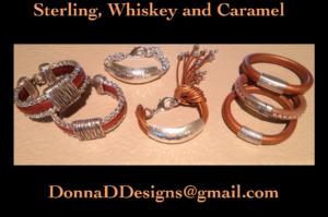 Sterling, Whiskey & Caramel  Bracelet Collection_Donna D Jewlery