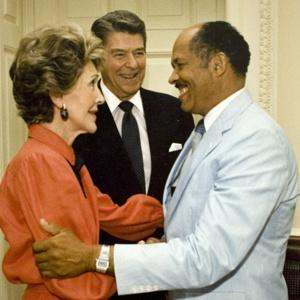 Eugene Allen, Nancy & Ronald Reagan_in the 1980's