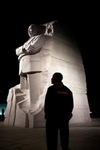 President Barack Obama tours the Martin Luther King, Jr. National Memorial in Washington, D.C., Oct. 14, 2011. (Official White House Photo by Pete Souza)