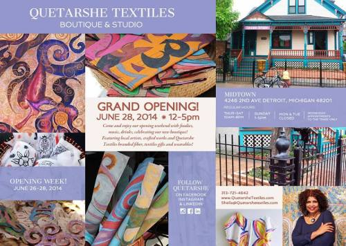 Quetarshe Textiles Boutique Studio Grand Opening__Saturday_June 28, 2014